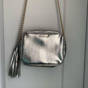 NWOT Victoria's Secret Silver Crossbody Bag